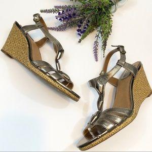 CLARKS Metallic Wedge Sandals